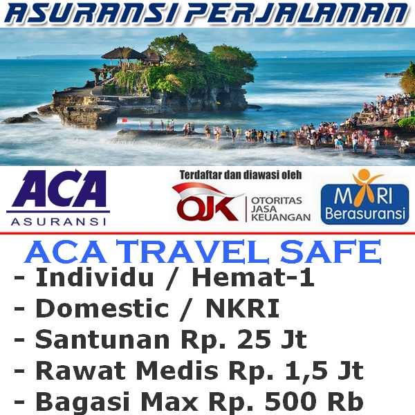 ACA Travel Safe Domestic Hemat-1 Individu (Durasi Travel 15-30 Hari)