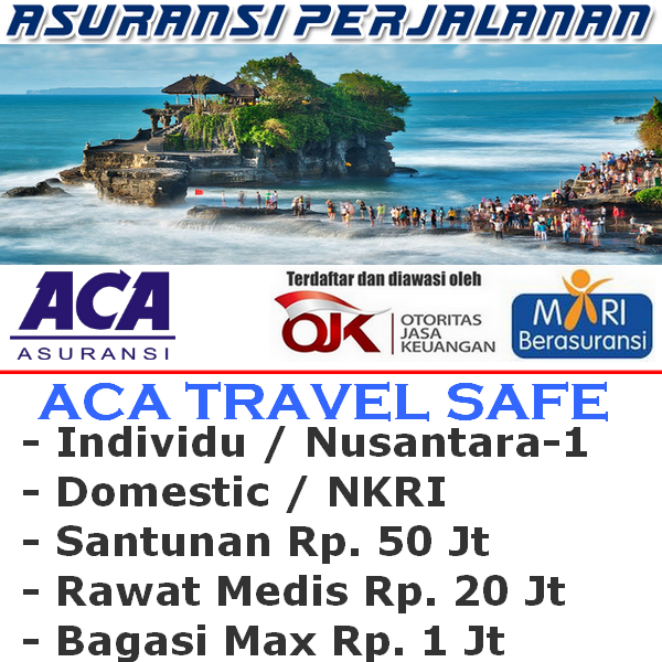 ACA Travel Safe Domestik Nusantara-1 Individu (Durasi Travel (12-20 Hari)