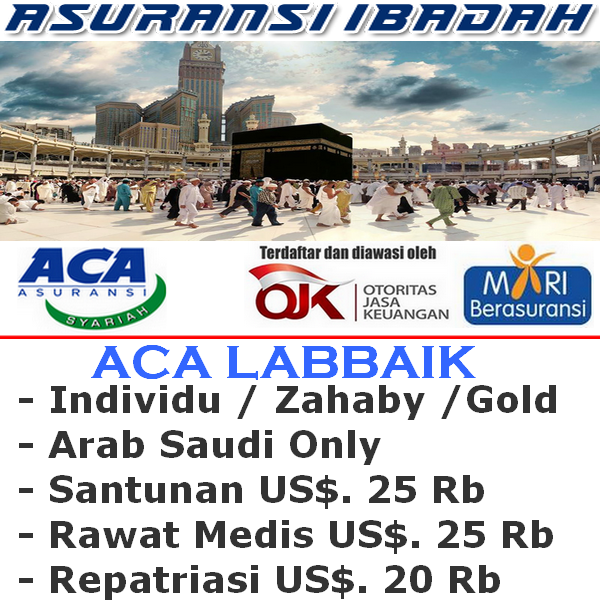 ACA Labbaik Gold Travel Safe Haji & Umroh Individu (Durasi Travel 21-31 Hari)