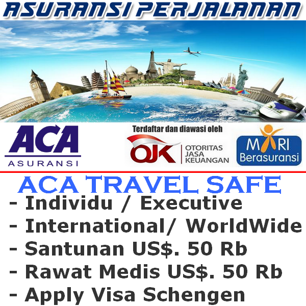 ACA Travel Safe International Worldwide Executive Individu (Durasi Travel 16-20 Hari)