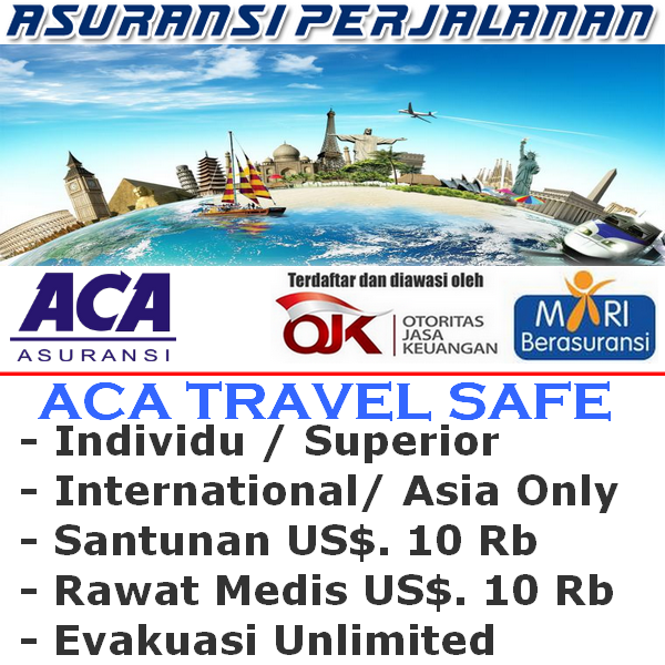 ACA Travel Safe International Asia Only - Superior Individu (Durasi Travel 9-10 Hari)