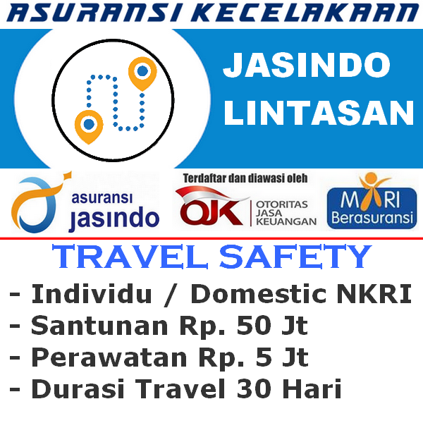 Jasindo Lintasan Premi Rp. 12.500 - Individu (Durasi Travel 30 Hari)