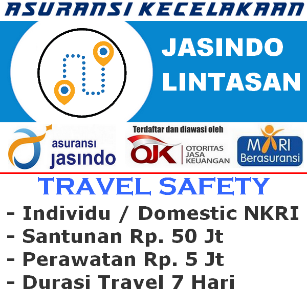 Jasindo Lintasan Premi Rp. 5.000 - Individu (Durasi Travel 7 Hari)